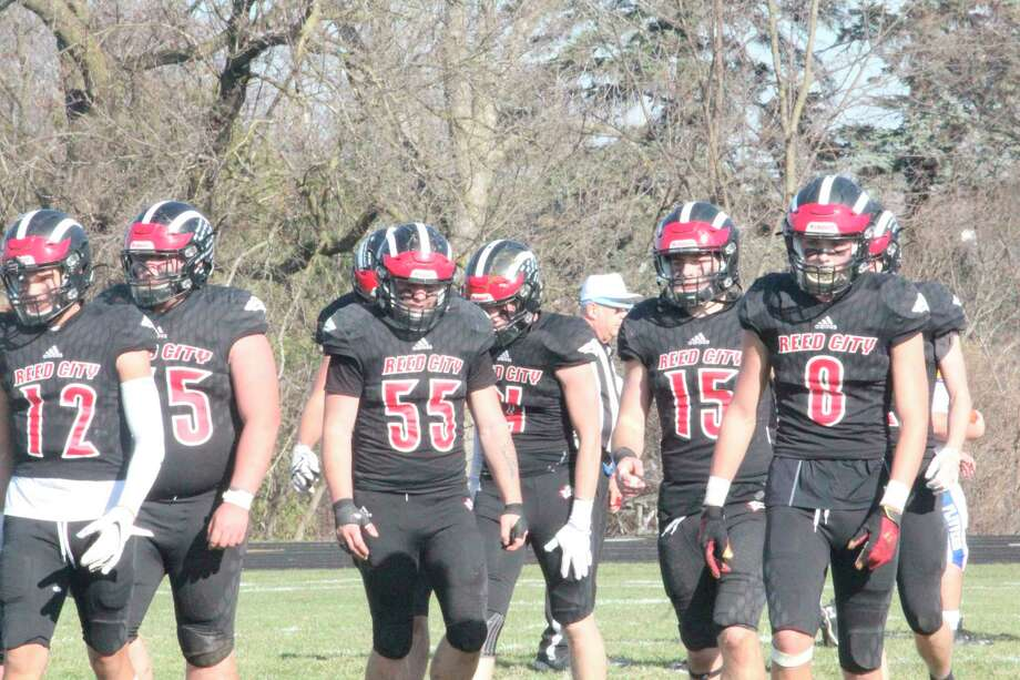 Reed City football players are set to return to the field by Jan. 2 as a part of the MHSAA's announcement to resume tounament action suspended on Nov.16. (Pioneer file photo)
