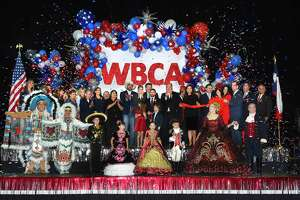 WBCA boardmembers, ambassadors and local dignitaries gather at the Sames Auto Arena to kick-off the WBCA festivities, Thursday, Jan. 23, 2020, during the WBCA Commander's Reception.