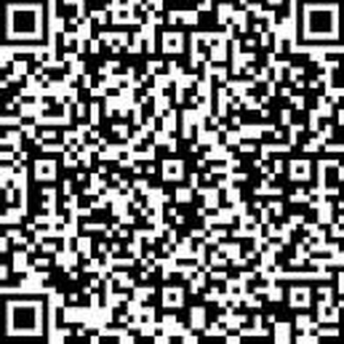 Hold a phone to the QR code to take a brief survey as part of the Permanent Commission on the Status of Women in Connecticut's statewide data collection initiative on