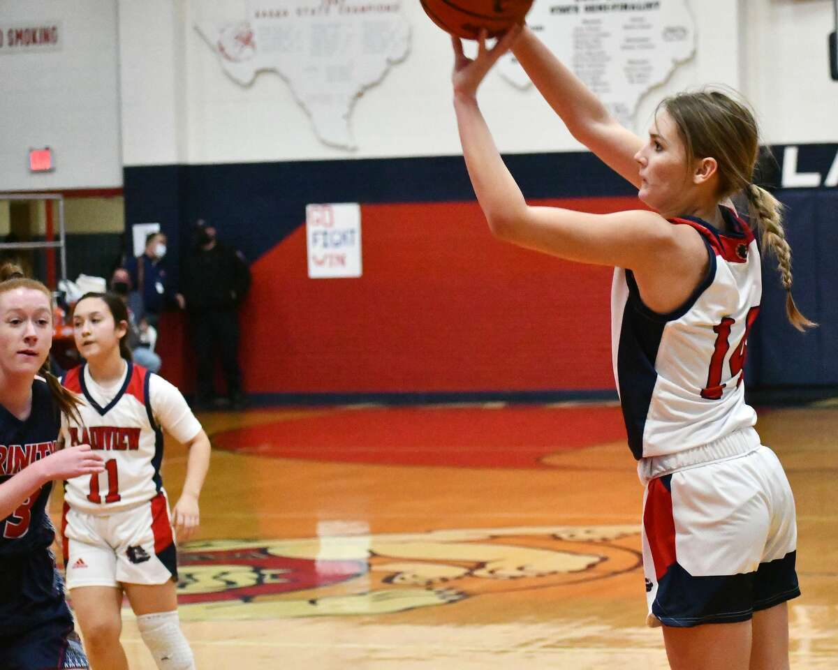 The Plainview Lady Bulldogs rolled to a 91-35 win over Lubbock Trinity Christian in a non-district girls basketball game on Friday, Dec. 18, 2020 in the Dog House at Plainview High School