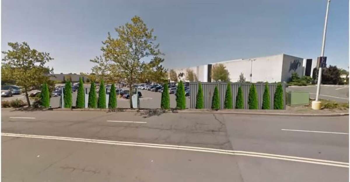 An artist rendering of the proposed electric vehicle charging station at Westfield Trumbull mall.