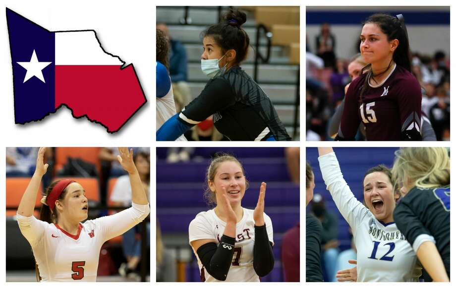Julia Neveu, Kaylyn Fojt, Jackie Lee, Ally Wendel and Kendall Sadler are The Courier's nominees for Defensive MVP. Photo: Staff File Photos