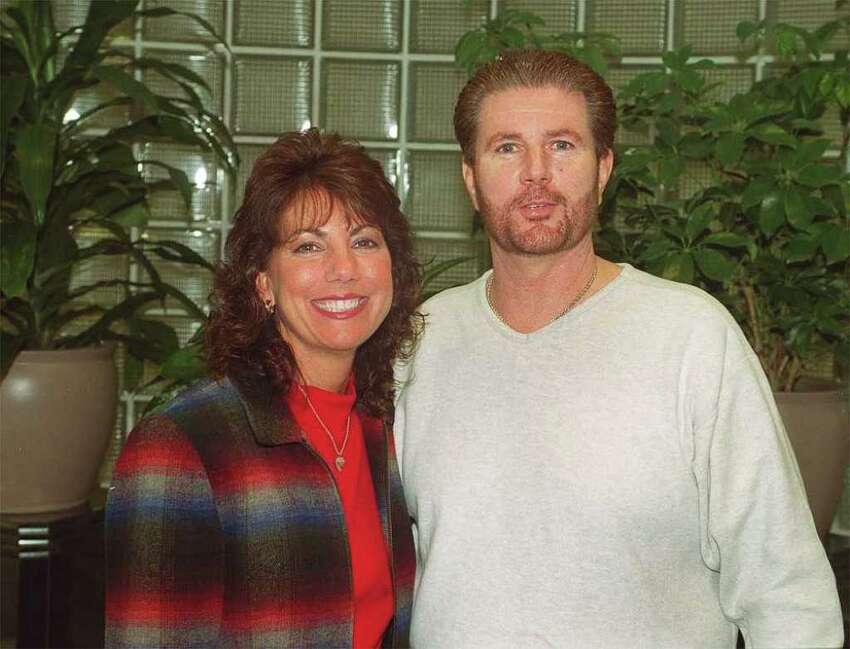 Roseanne and Jim Galante in the AWD offices in DAnbury. (2003)