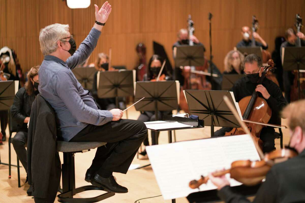 Stamford Symphony Conductor Michael Stern leads the Stamford Symphony for its holiday concert,