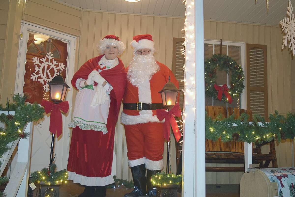 Jake and Cathy Kollman are hosting Santa and Mrs. Claus at 234 E. Michigan Ave. on Tuesday and Wednesday.