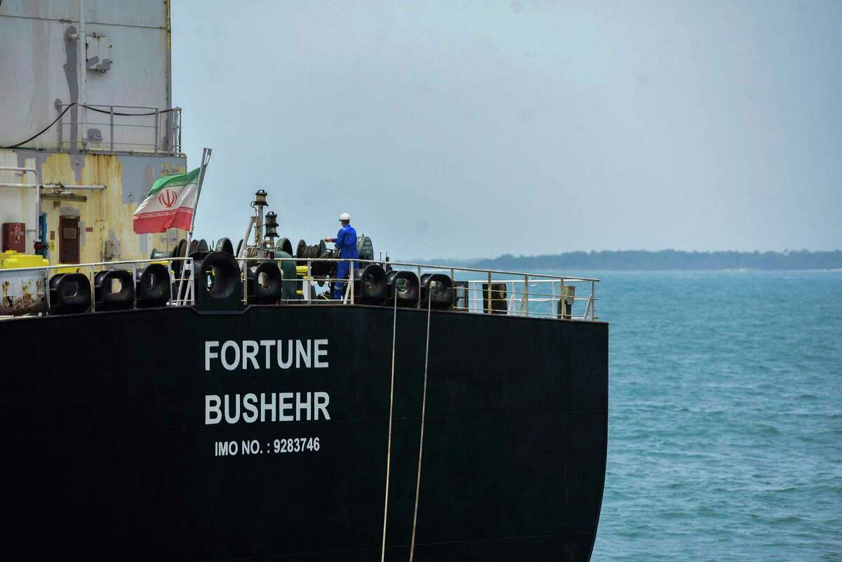The Iranian-flagged oil tanker Fortune is docked at the El Palito refinery in Venezuela last year. Progress in talks on the Iran nuclear deal could move oil prices this week.