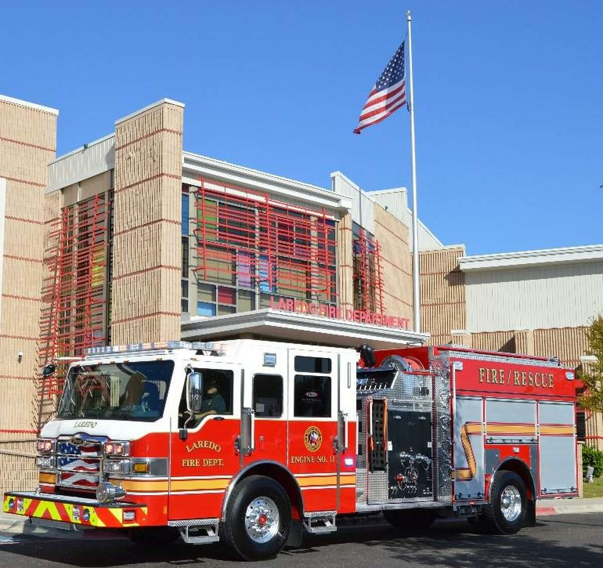The Laredo Fire Department received this 2020 fire pumper to replace an older unit.
