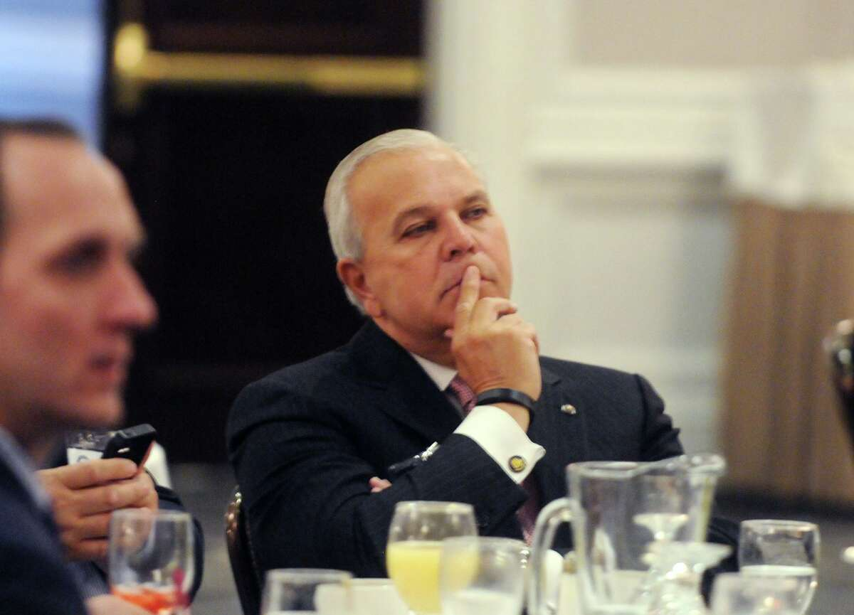 Michael Fedele of Stamford, the former lieutenant governor who is the currently chairman of the board of a state medical marijuana producer, in a 2015 file photo.
