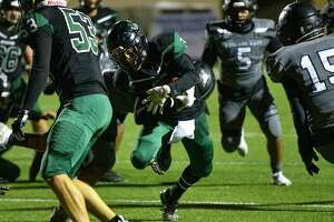 Southwest's Trey Cano rushes for yardage in last week's playoff victory against Weslaco East.