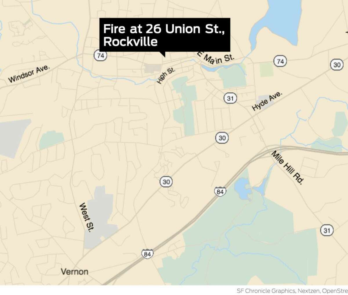 Several people have been rescued from a fire at apartments at 26 Union St. in Rockville Sunday, Dec. 20, according to Vernon Police.