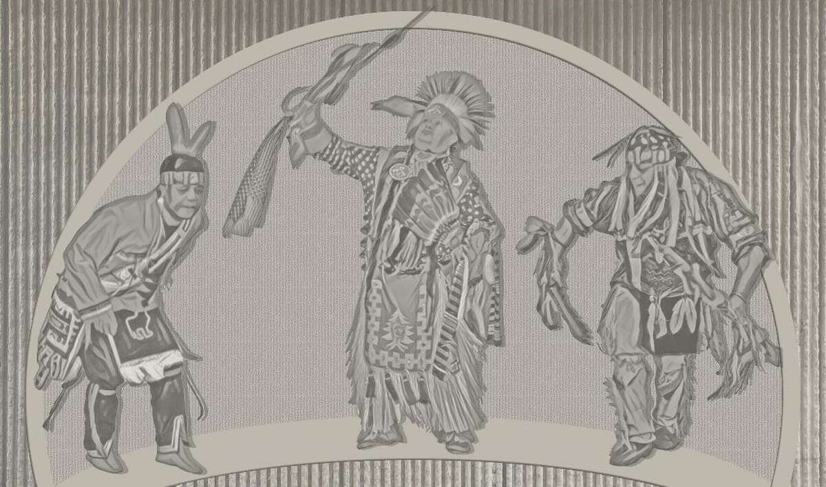 Mural renderings by NY DOT provided to Tribal consulting parties that were supposed to be placed at Northway's Exit 3.