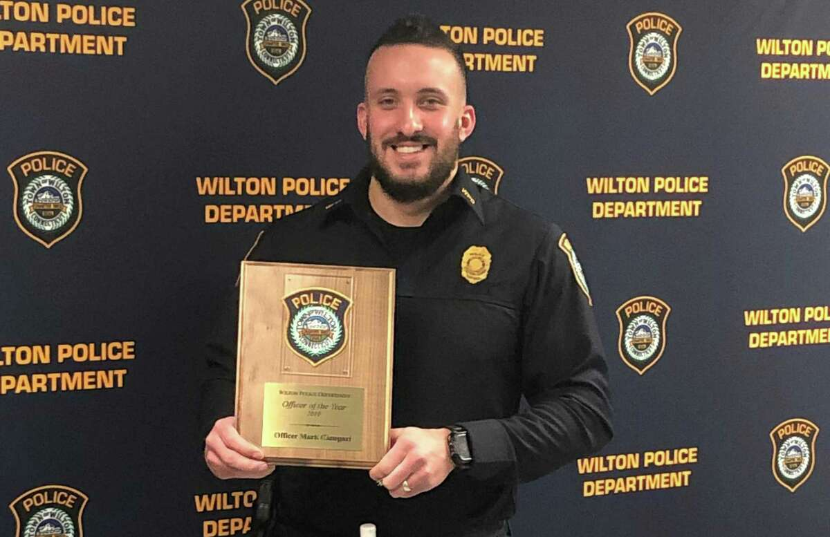 Officer Mark Canepari is Wilton's 2019 Police Officer of the Year.