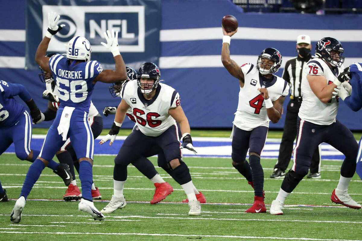 Deshaun Watson had a stellar day and put the Texans in position to tie Sunday's game before another late fumble sealed a Colts victory.
