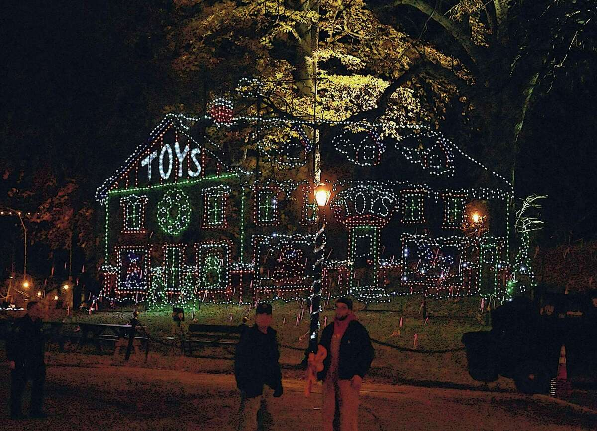 A display is seen after Mayor Kathy Sheehan threw the switch to open the 22nd Annual Price Chopper/Market 32 Capital Holiday Lights in the Park in Washington Park on Thursday, Nov. 15, 2018 in Albany, N.Y. The Holiday Lights is produced by the Albany Police Athletic League. The drive-through begins nightly on Friday, November 23, 2018 through January 2, 2019. (Lori Van Buren/Times Union)