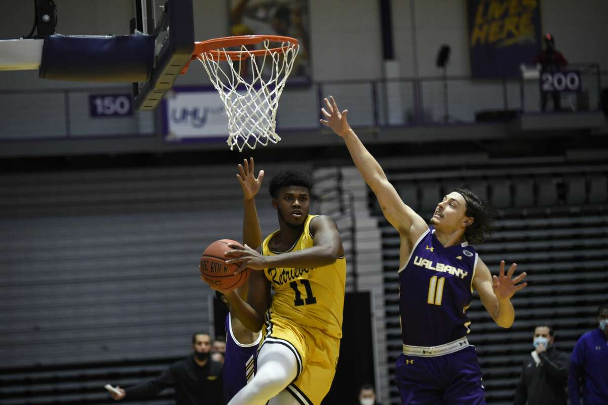 Cameron Healy (11) said he is willing to do whatever is asked to contribute the Great Danes this season. (Kathleen Helman/UAlbany athletics)