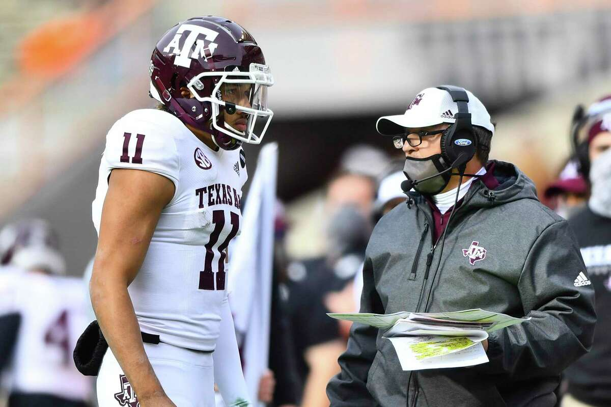 Texas A&M quarterback Kellen Mond was one of several Aggies to voice his displeasure with being left out of the College Football Playoff on Sunday.