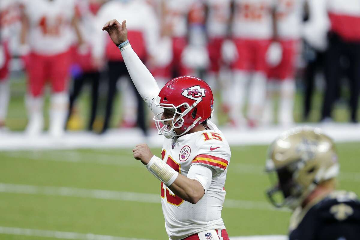 Patrick Mahomes reacts to a touchdown like a normal human, but he's not - Kansas City's quarterback can throw side-arm, underhanded, overhanded or push the ball for touchdowns.