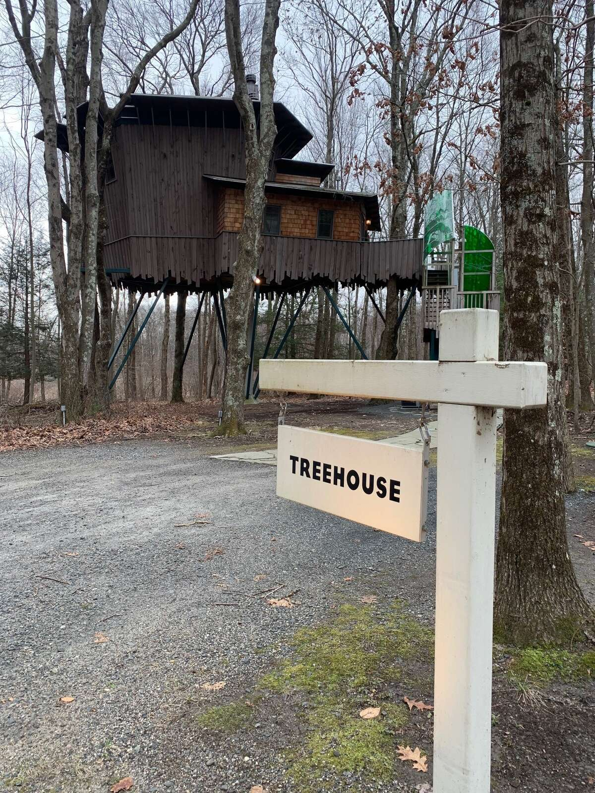 The Treehouse suite at Winivan Farms in Morris, Connecticut.