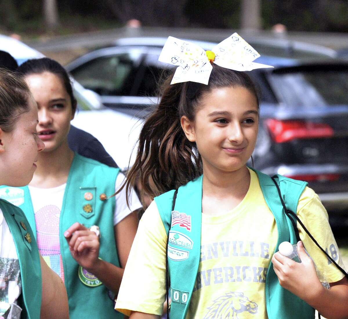 Greenwich Girl Scout Carly Cernigliaro, 11, a member of Greenwich troop 50100 attended the