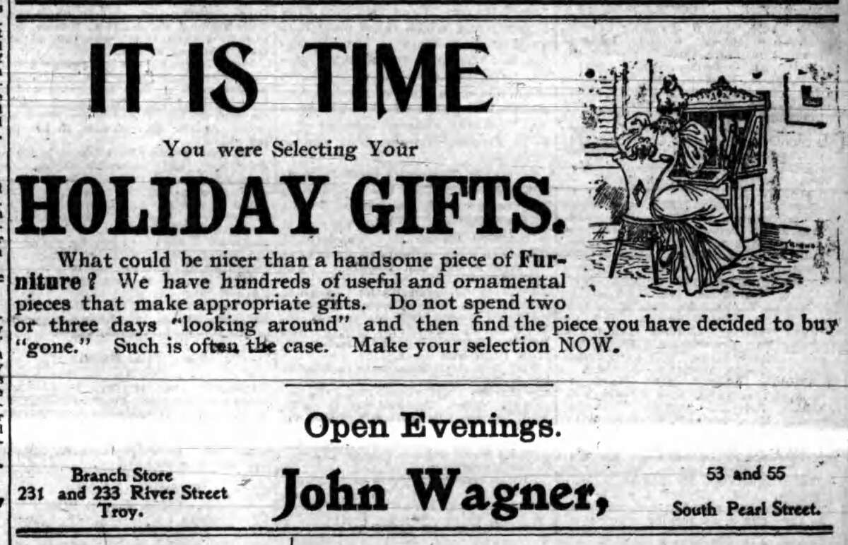 Dec. 19, 1900 ad in the Times Union.