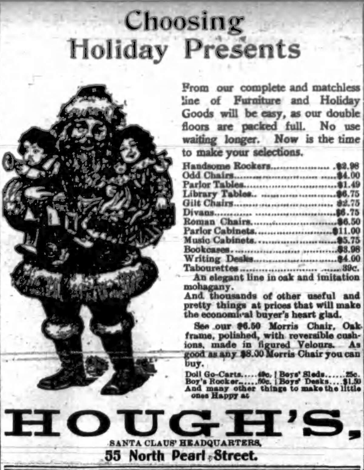 Dec. 15, 1900 ad in the Times Union.
