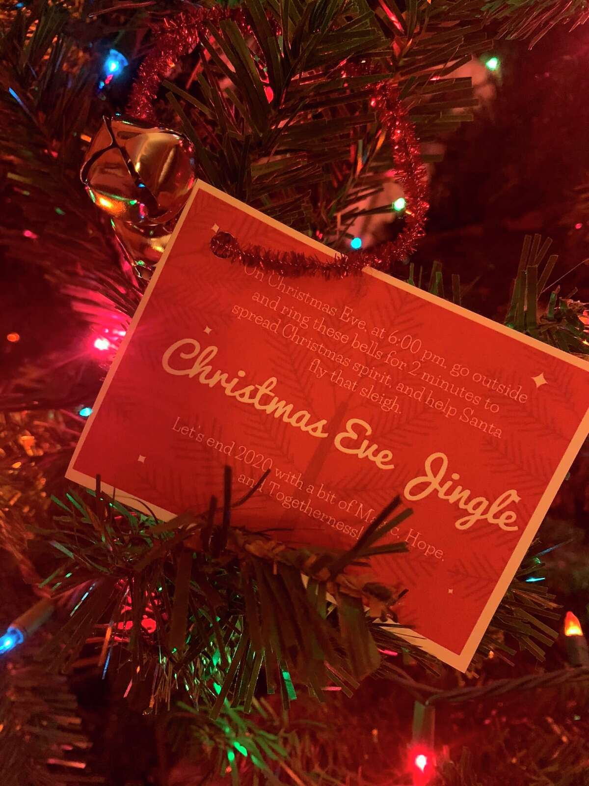 To participate in the Christmas Eve Jingle, families need only set out onto their porch at 6 p.m. on Christmas Eve to ring a bell for 2 minutes. Bells can be picked up at various businesses across the county at no cost. (Courtesy Photo)
