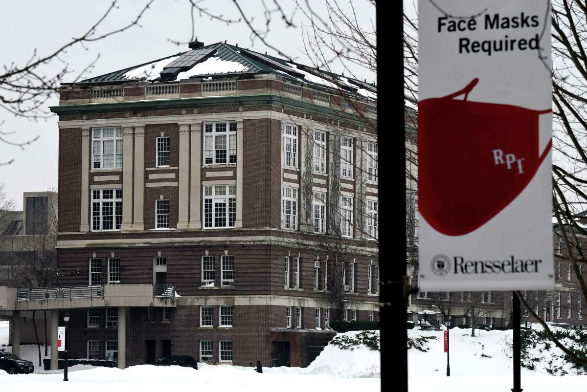 The campus at Rensselaer Polytechnic Institute is seen on Monday, Dec. 21, 2020, in Troy, N.Y.(Will Waldron/Times Union)