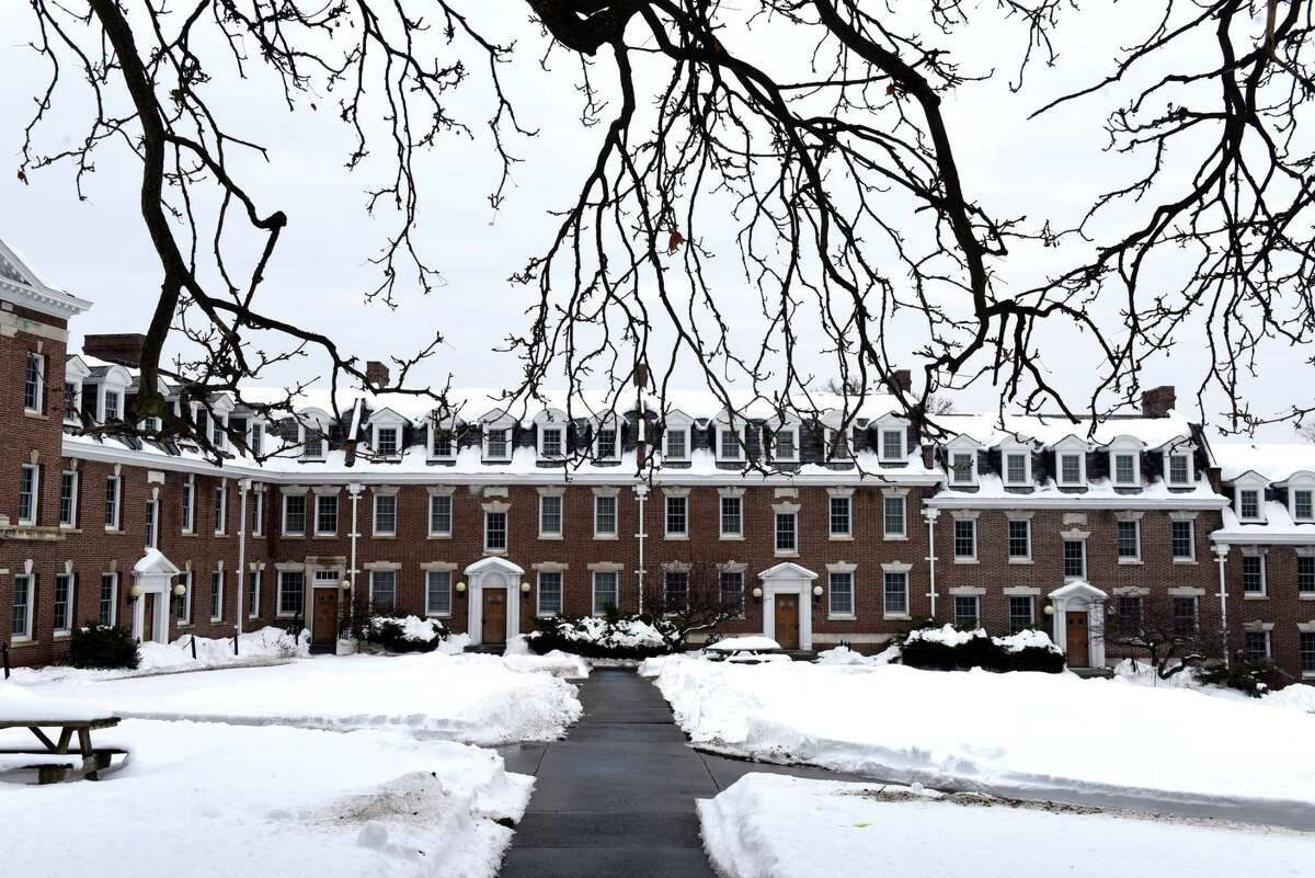 The Quadrangle Residence Hall Complex at Rensselaer Polytechnic Institute is seen on Monday, Dec. 21, 2020, in Troy, N.Y. A judge has agreed to hear a class action case against RPI saying that the plaintiffs' claim that RPI promised an in-person college experience in exchange for tuition and fees is plausible. Students say they are being forced to pay for a part of their education that is not possible because of the impact of coronavirus. (Will Waldron/Times Union)
