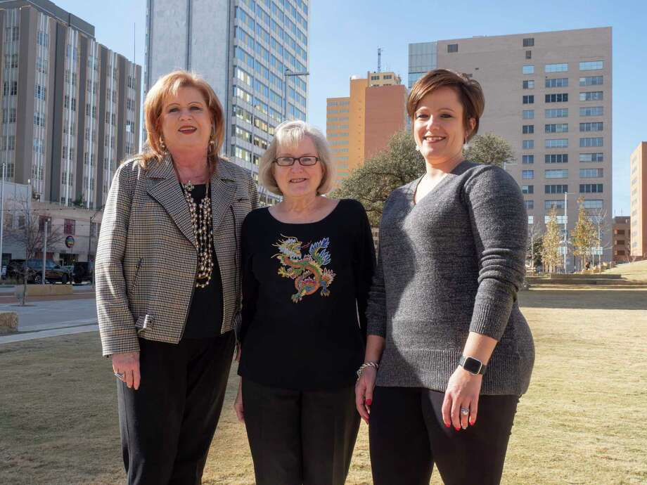 Laurie Johnson, Kay Crites and Autumn Vest, MRT Persons of the Year for 2020, for their effort through Permian Gives to raise $2.5 million in one day. 12/21/2020  Tim Fischer/Reporter-Telegram Photo: Tim Fischer, Midland Reporter-Telegram