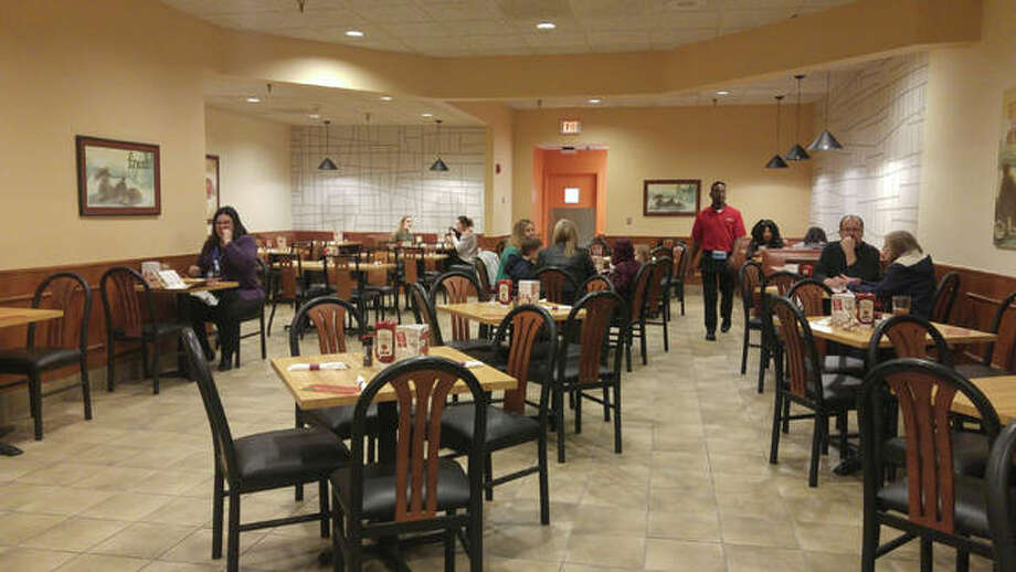 Olga's Kitchen in the Alton Square Mall has been named the RiverBend Growth Association's Small Business of the Month. This October 2019 photo shows the restaurant following the remodel of its mall location.