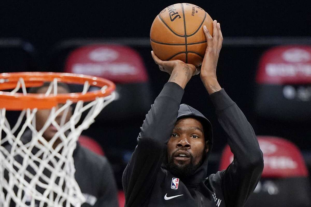 Kevin Durant and the Nets host the Warriors in the season opener at 4 p.m. Tuesday (TNT/95.7).