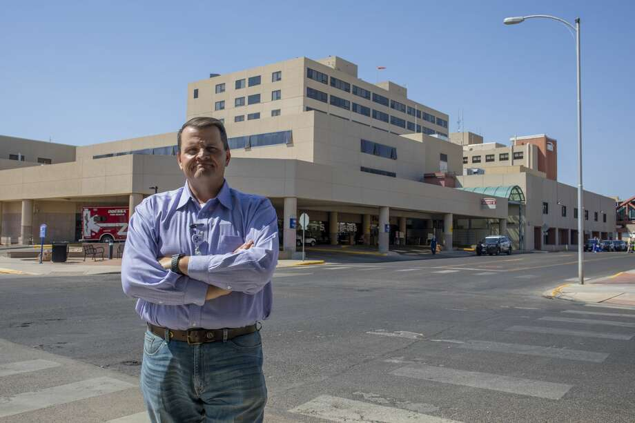 Medical Center Health System CEO and president Russell Tippin poses in front of the emergency department Aug, 24,. MCH and Odessa Regional Medical Center received COVID-19 vaccine on Monday. Photo: Jacy Lewis/Reporter-Telegram / MRT
