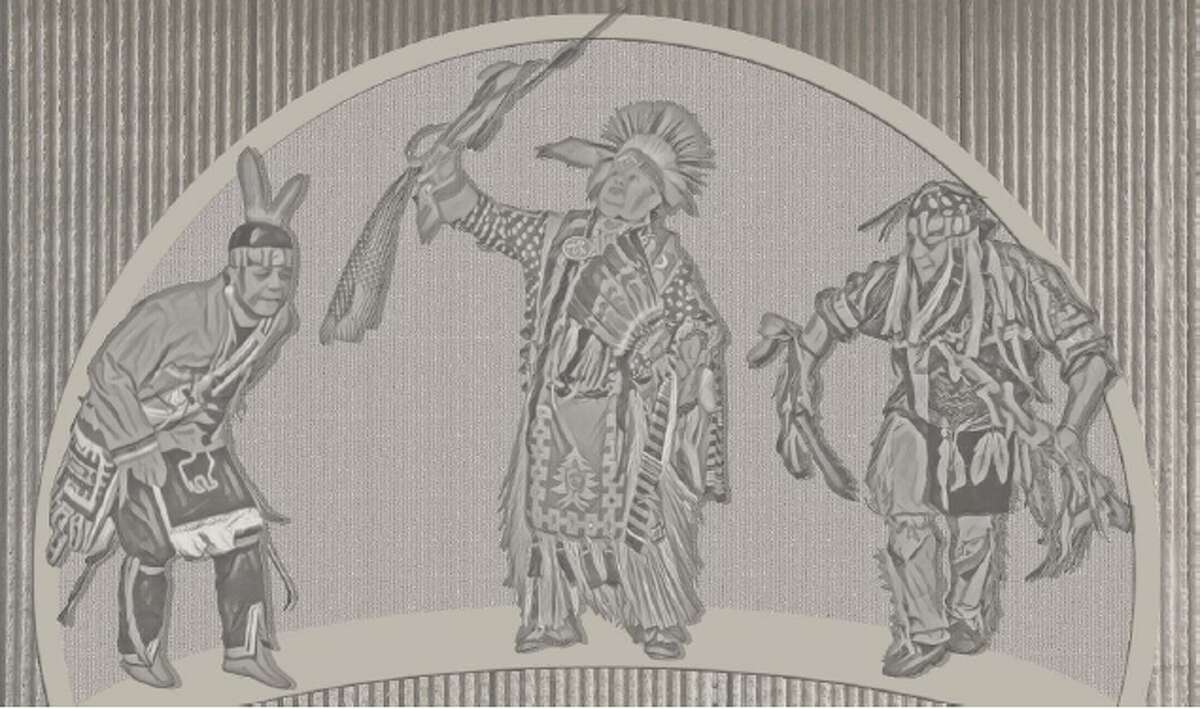 A rendering of a mural planned for the overpass at Exit 3 of the Northway. (Provided by the Stockbridge-Munsee Mohican Nation)