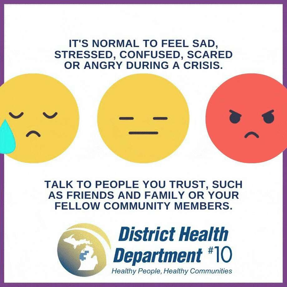 Health officials reccomend talking with someone you trust if you're feeling stressed, confused, scared or angry during the pandemic. (Infographic/DHD#10)