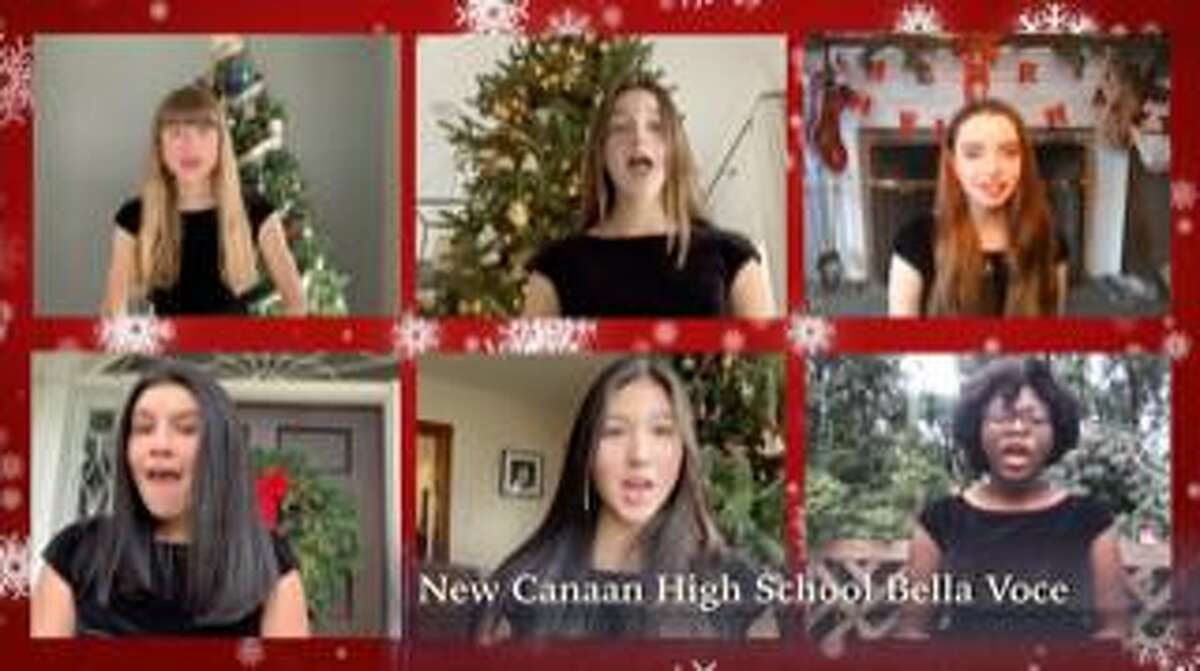 The New Canaan High School Bella Voce Choir sings Christmas carols in the New Canaan Chamber Music Christmas Eve Concert that will be aired Christmas Eve on NCTV79, Channel 79 at 6 p.m. and repeat throughout the holidays.