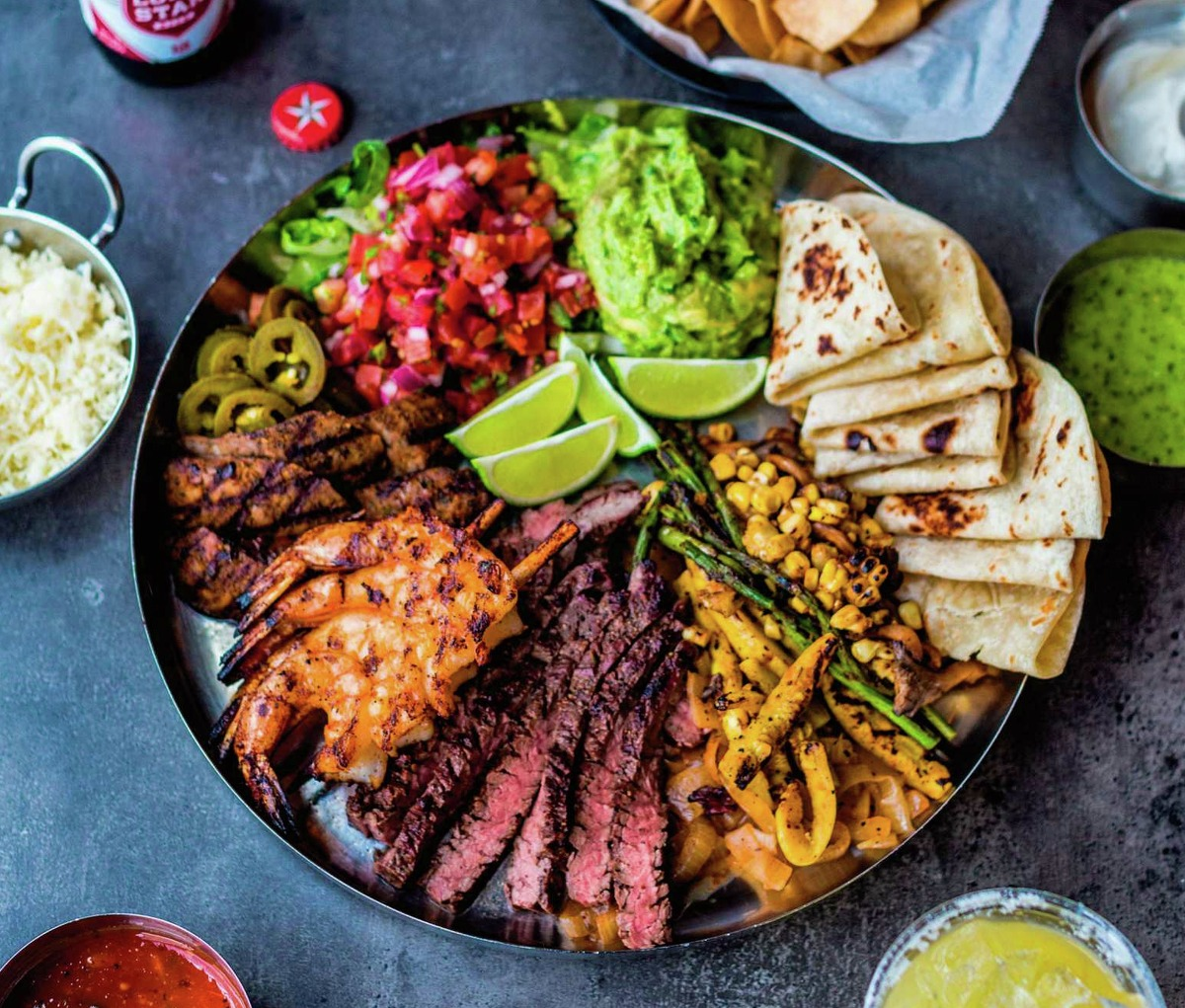 """Grilled Shrimp for Fajitas recipe from Houston's Tacos a Go Go from """"Serial Griller"""" by Matt Moore."""