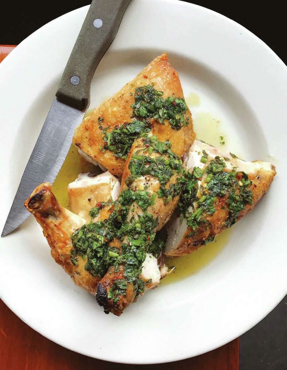 """JW Chicken recipe from """"The Barbuto Cookbook"""" by Jonathan Waxman."""