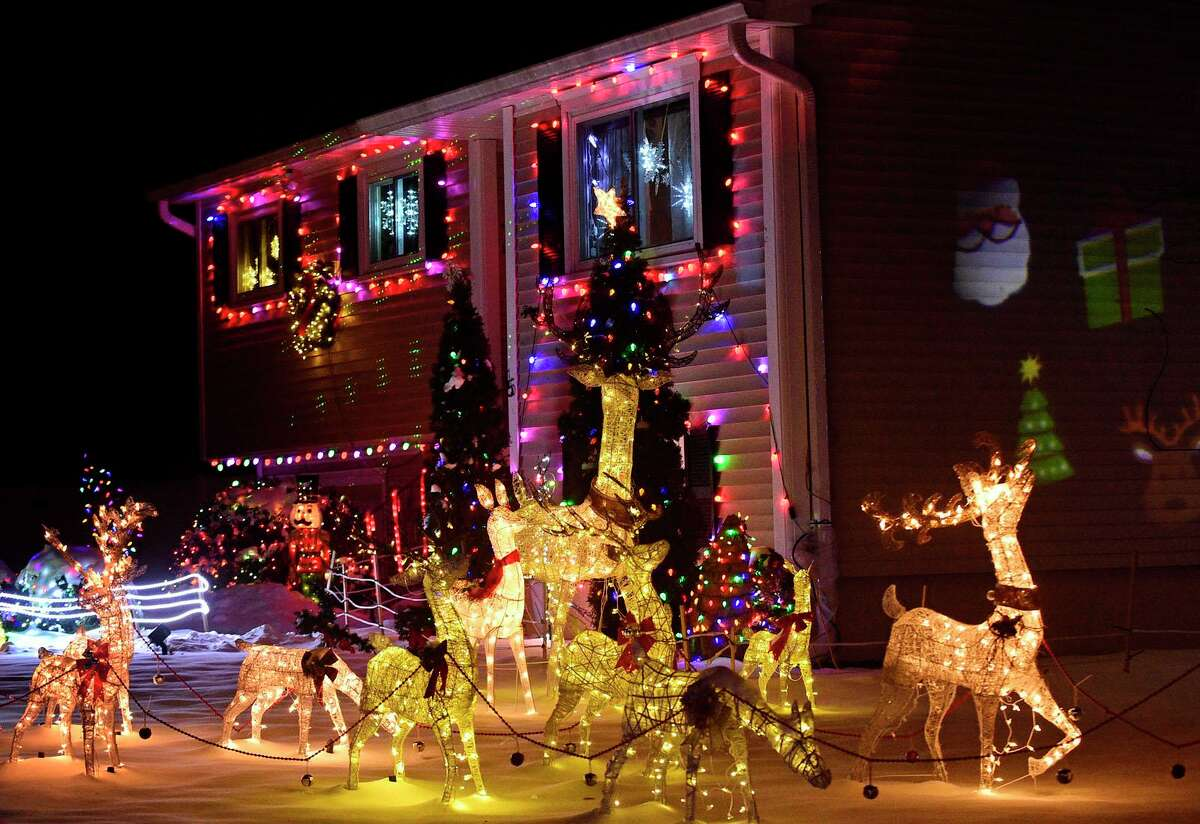 15 Mystic Lane Saturday, December 19, 2020, in Norwalk, Conn. Norwalk resident Erica DePalma has created a map of some of the best Christmas lighting and decorations in Norwalk.