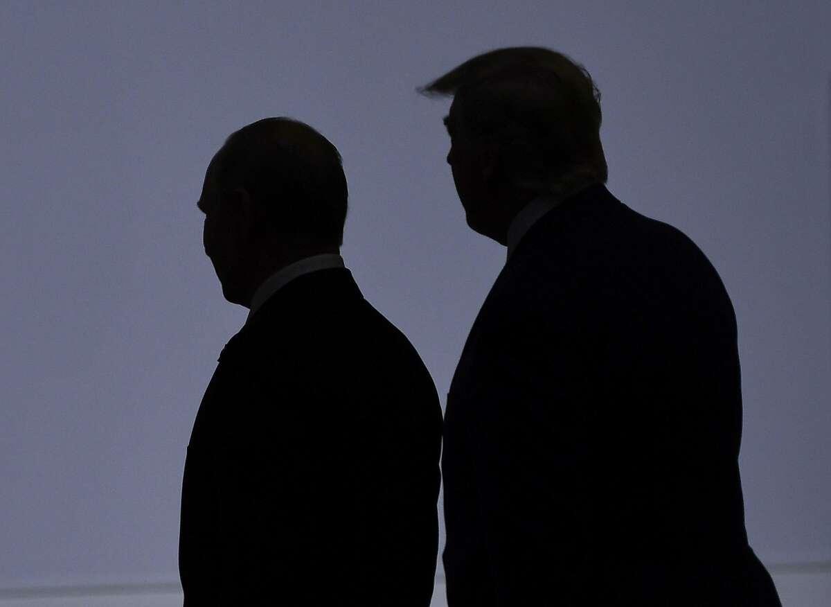 President Trump with Vladimir Putin at the G20 summit in Japan last year.