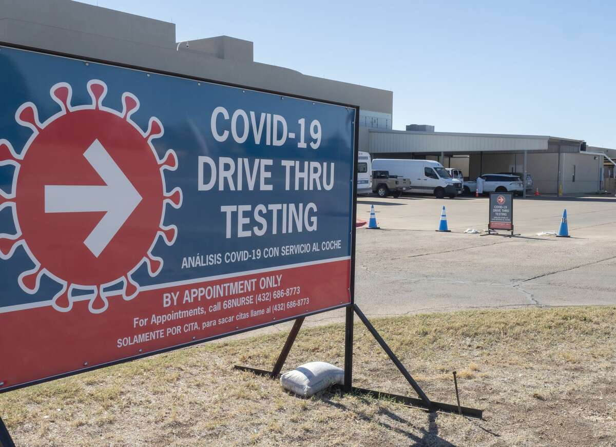 COVID testing site at Midland Memorial Hospital West Campus.