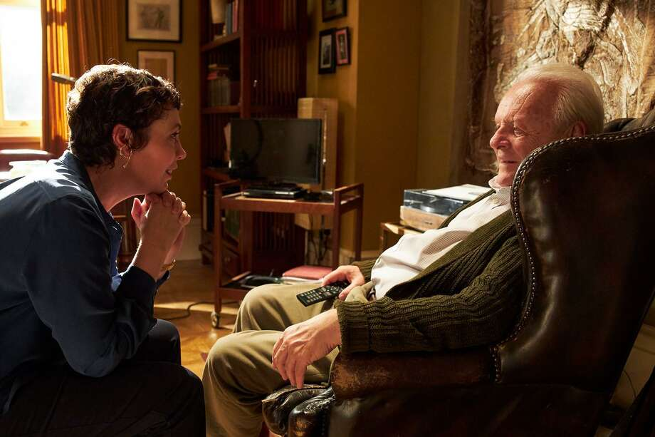 "Olivia Colman and Anthony Hopkins show off their acting game in ""The Father."" Photo: Sony Pictures Classics"