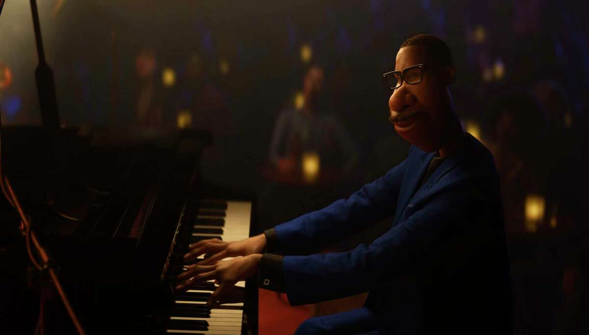 This image released by Disney/Pixar shows Joe Gardner, voiced by Jamie Foxx, from the animated film