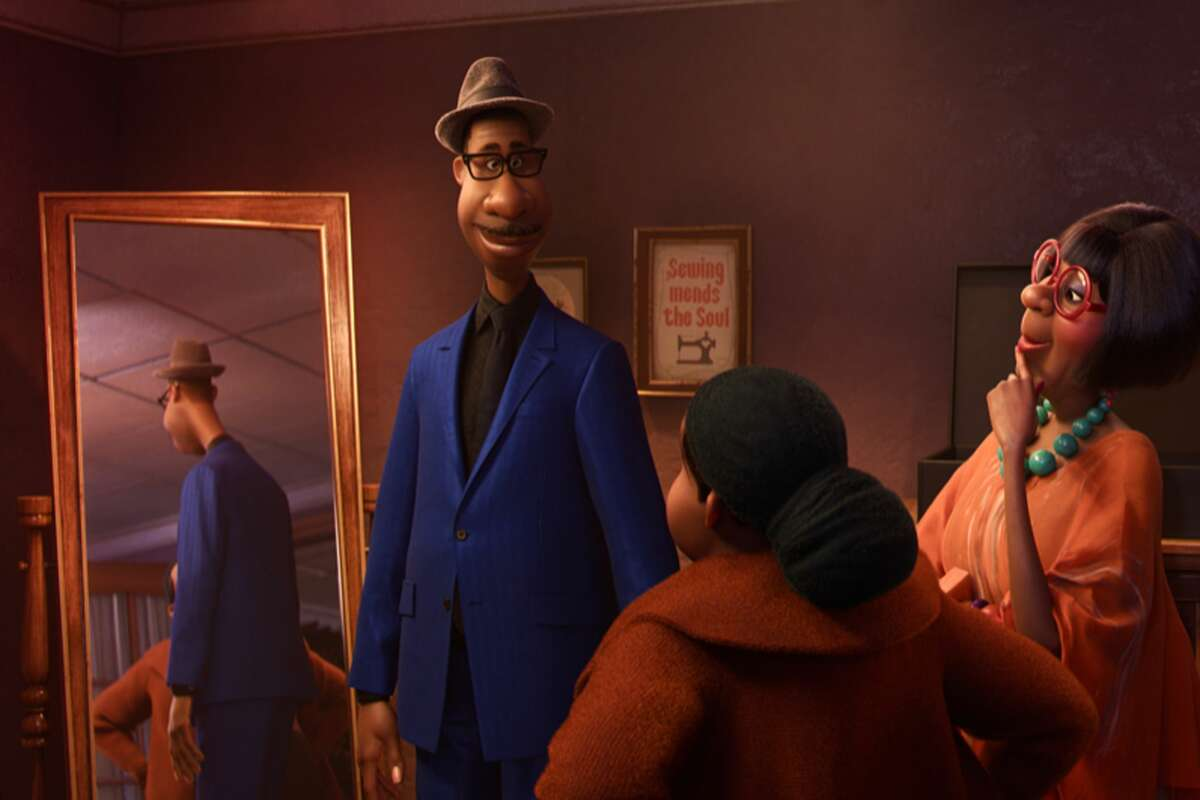 A scene from a tailor shop in the Pixar animated film