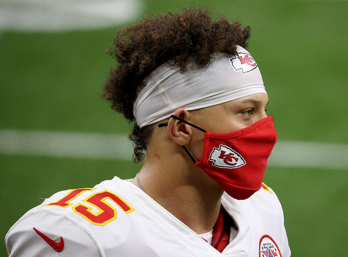 Patrick Mahomes #15 of the Kansas City Chiefs looks on after the game against the New Orleans Saints at Mercedes-Benz Superdome on Dec. 20, 2020 in New Orleans, Louisiana. (Chris Graythen/Getty Images/TNS)