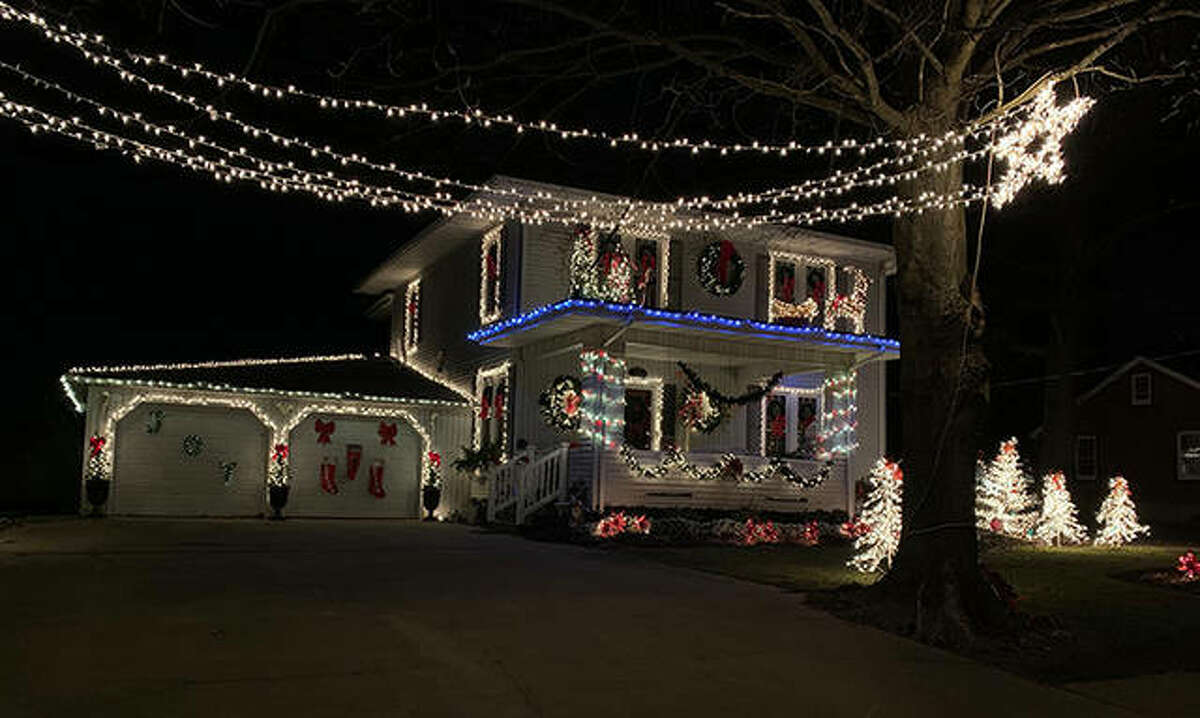 The home of Arly Rock is one of the winners of the village of Bluffs' Christmas lighting contest. Houses selected for honors were those of Bill Brockway, John Edlen, Ryan Edlen, Ed Little, Ron Rose and Rock.