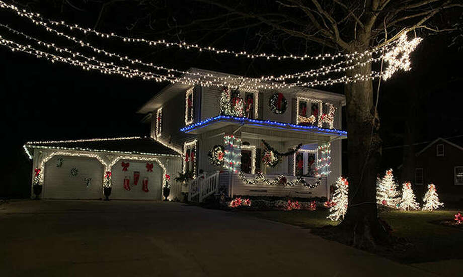 The home of Arly Rock is one of the winners of the village of Bluffs' Christmas lighting contest. Houses selected for honors were those of Bill Brockway, John Edlen, Ryan Edlen, Ed Little, Ron Rose and Rock. Photo: Photo Provided