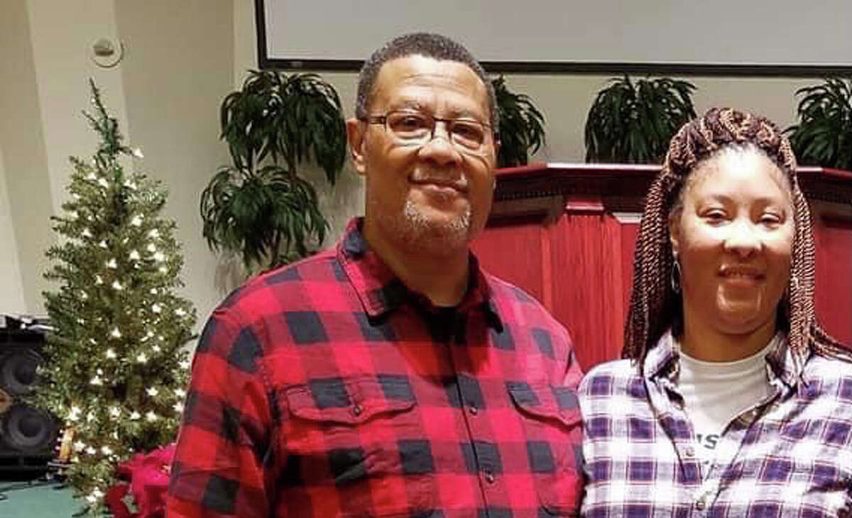Choranda Johnson and her dad, Kevin Taylor, after singing together at church December 2019.