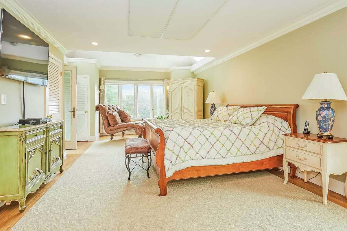 Master bedroom suite at 272 Catamount Road, Fairfield.