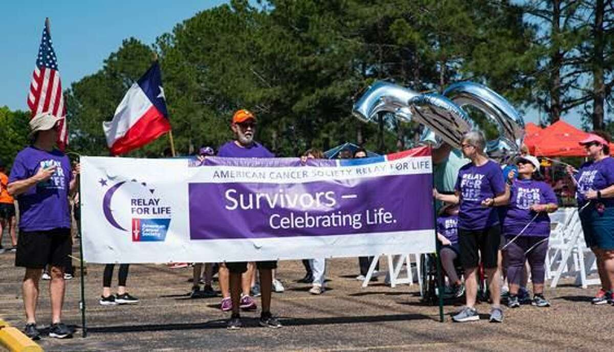 People participate in the 2019 Relay For Life of Cy-Fair event in support of the American Cancer Society.