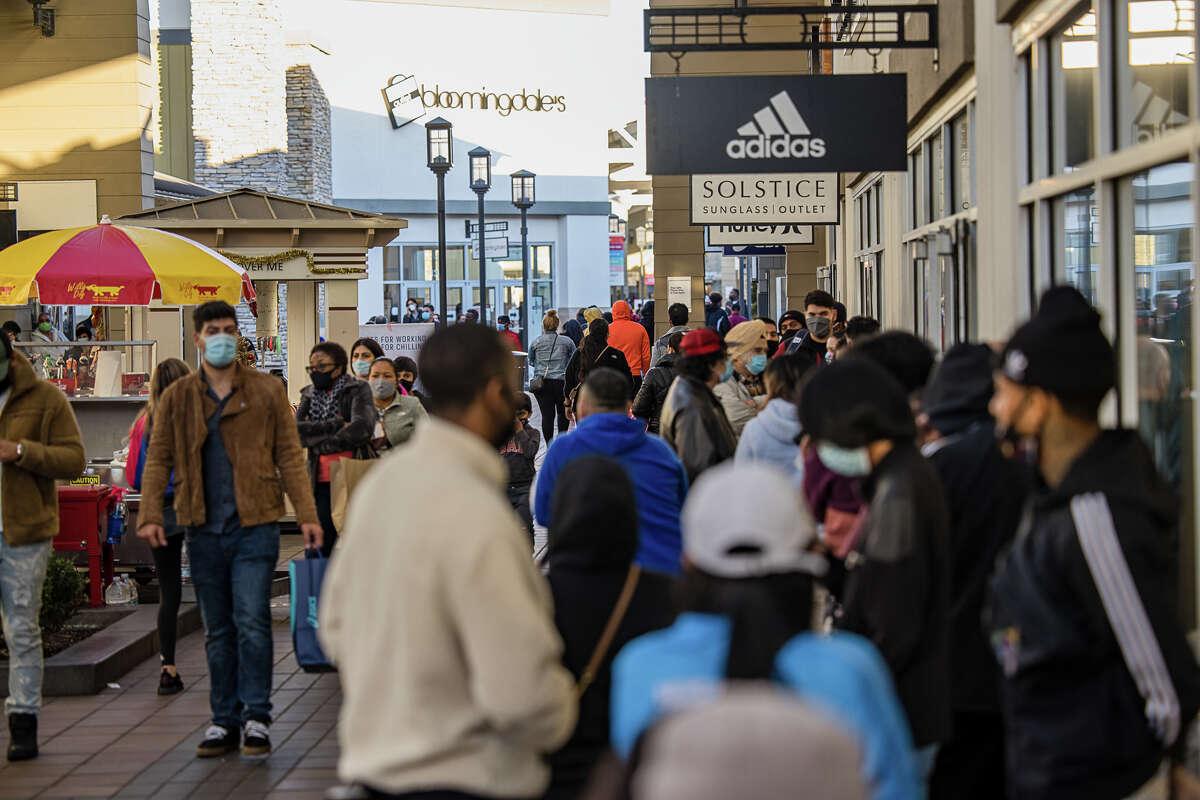 San Francisco Premium Outlets, Livermore, Calif., Dec. 21, 2020.